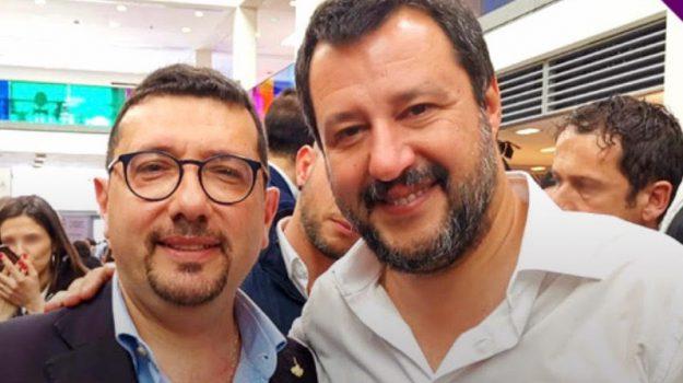 25 aprile, salvini in sicilia, Igor Gelarda, Matteo Salvini, Sicilia, Politica