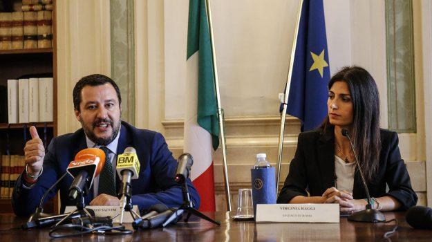 roma, Matteo Salvini, Virginia Raggi, Sicilia, Politica