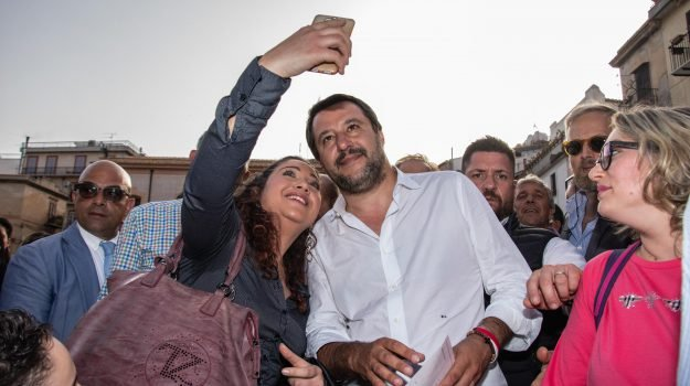 25 aprile, corleone, salvini in sicilia, Matteo Salvini, Sicilia, Politica