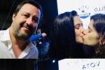 Caltanissetta, due ragazze chiedono il selfie a Salvini e poi si baciano