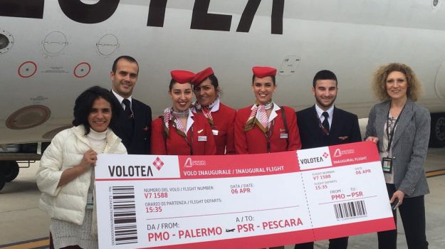 Palermo Pescara, voli, Volotea, Palermo, Economia