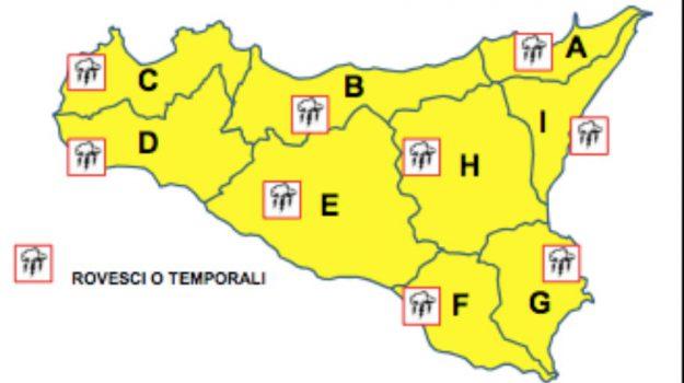allerta gialla, Maltempo, previsioni, Sicilia, Meteo