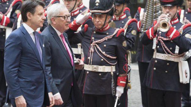 governo, italia Ue, Giuseppe Conte, Jean Claude Juncker, Sicilia, Politica
