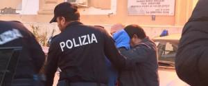 Moncef Naili all'uscita dalla squadra mobile di Palermo