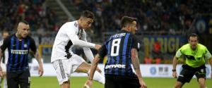 Cristiano Ronaldo risponde a Nainggolan: Inter-Juventus finisce 1-1