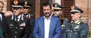 Il vice presidente del Consiglio e ministro dell'Interno Matteo Salvini