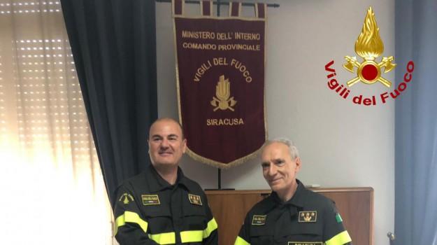 comando provinciale vigili del fuoco, nuovo comandante vigili del fuoco, Ferdinando Franco, Michele Burgio, Siracusa, Cronaca