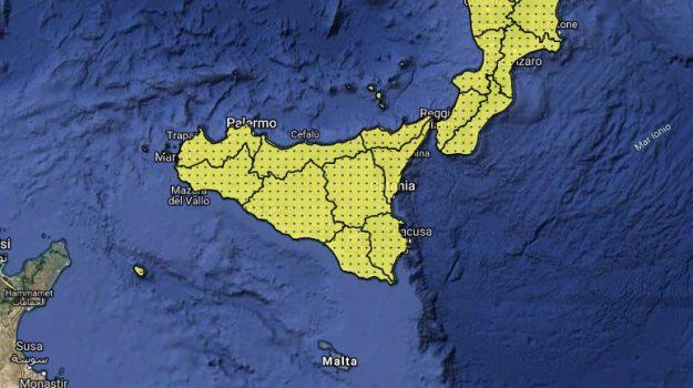 allerta gialla, Maltempo, previsioni meteo, Sicilia, Meteo