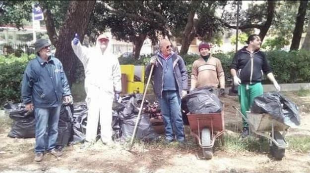 Dusty, rifiuti a castelvetrano, villa falcone borsellino, Trapani, Cronaca