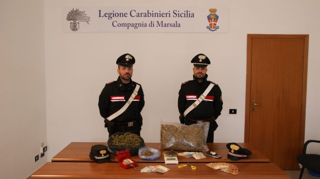 droga, marijuana, marsala, Antonina Prinzivalli, Leonardo Agostino Prinzivalli, Trapani, Cronaca