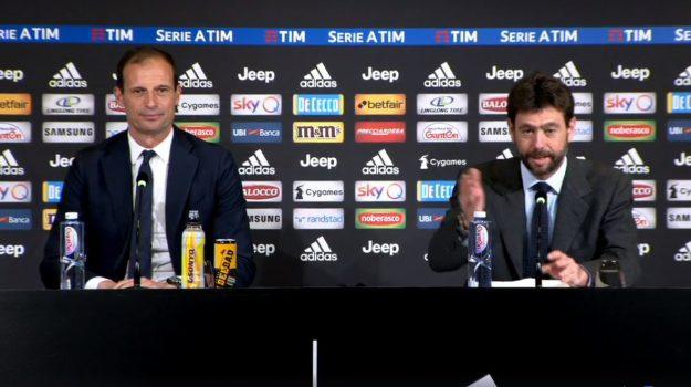 conferenza stampa, Juventus, Andrea Agnelli, Massimiliano Allegri, Sicilia, Calcio