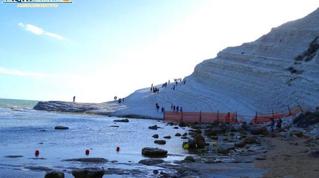 barriera, realmonte, scala dei turchi, Agrigento, Cronaca