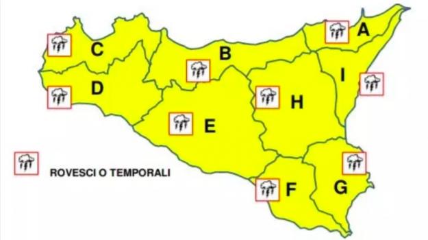 allerta gialla, Maltempo, Sicilia, Sicilia, Cronaca
