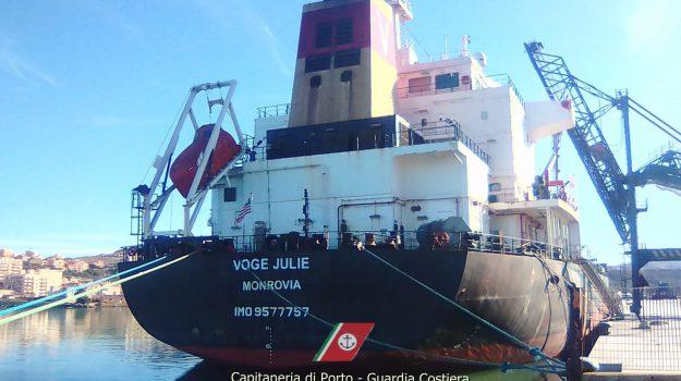 capitaneria, Nave Voge Julie, porto empedocle, Agrigento, Cronaca