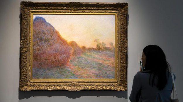 asta, New York, quadro Monet, Sicilia, Mondo