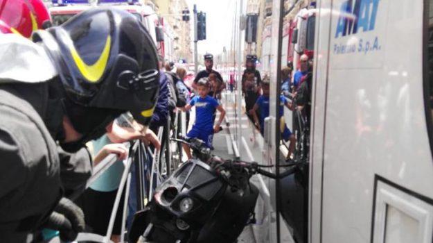incidente tram, linea 1, via Padre Puglisi, Palermo, Cronaca