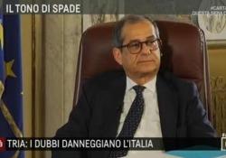 Tria: «80 euro scelta  errata, verranno riassorbiti» Il ministro dell'economia ospite di Agorà sui Rai Tre - LaPresse