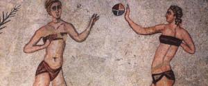 Mosaico d'epoca romana ritrovato nella Villa romana del Casale, a piazza Armerina