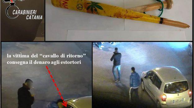 cavallo di ritorno, estorsione, lesioni, Giombattista Marchese, Pietro Monaco, Catania, Cronaca