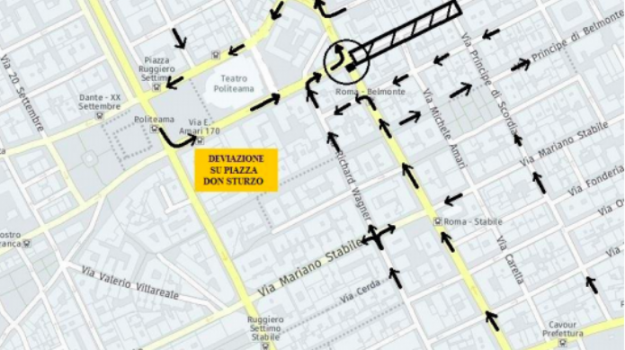 chiusura traffico palermo, sistema cala, via amari, Palermo, Cronaca