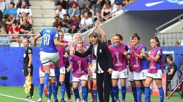 Italia-Giamaica, Mondiali donne, Sicilia, Calcio