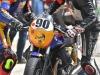 Le Moto Guzzi V7 III in pista a Magione al Fast endurance