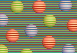 Di che colore sono queste palline? Ecco un'altra illusione ottica virale Pare di vedere sfere di vari colori in mezzo a una fila di strisce, ma non è così - CorriereTV