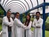 Linfluencer Camihawke con il ricercatori dellAirc