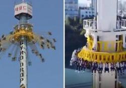 Il video di questa giostra spaventosa (che in molti stanno condividendo) è falso Il filmato del Gyro Drop Tower di Seoul, in Corea, è stato visto milioni di volte - CorriereTV