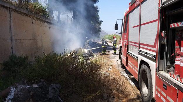 autostrada, brancaccio, incendio, Palermo, Cronaca