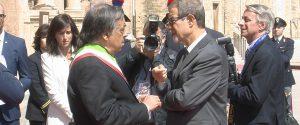 Il sindaco di Palermo, Leoluca Orlando e il presidente della Regione Siciliana, Nello Musumeci