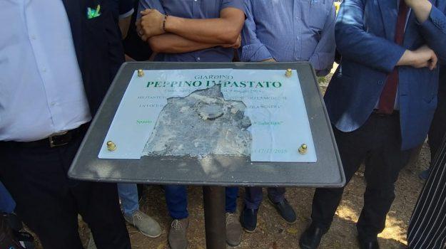 cep, mafia, targa Impastato, vandali, Peppino Impastato, Palermo, Cronaca