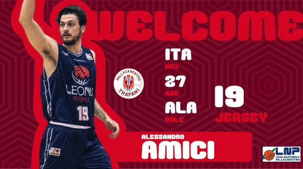 basket, pallacanestro trapani, Alessandro Amici, Trapani, Sport