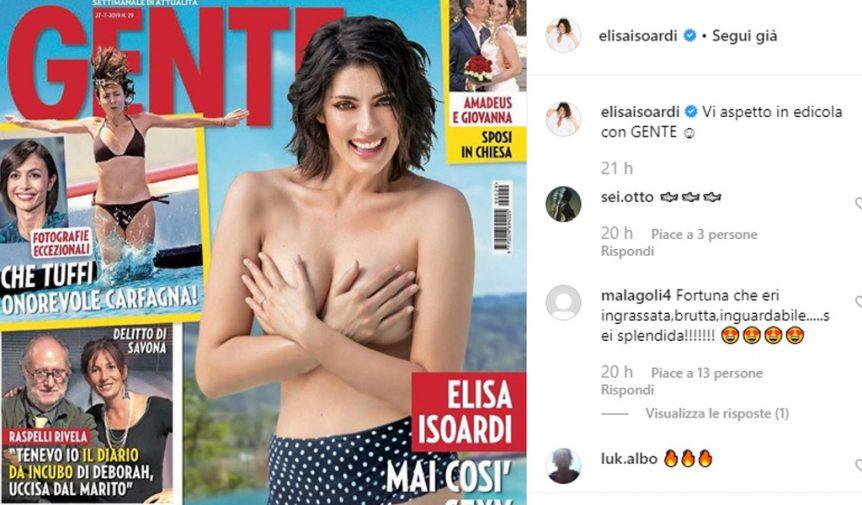 Criticata Per I Chili Di Troppo Elisa Isoardi Risponde Con Un Topless Giornale Di Sicilia