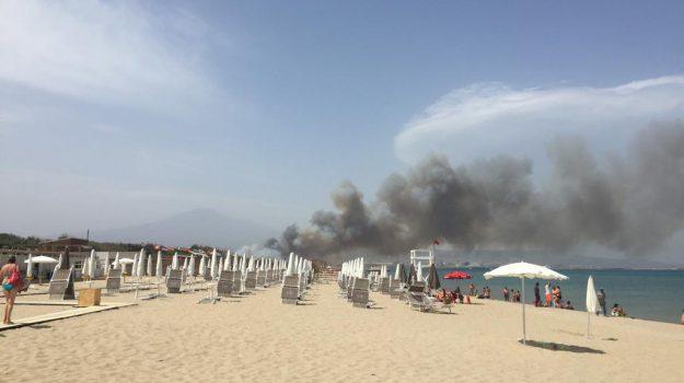 incendi, plaia catania, Nello Musumeci, Catania, Cronaca