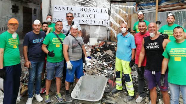 LAVORO, reddito di cittadinanza, rifiuti, volontari, Palermo, Cronaca