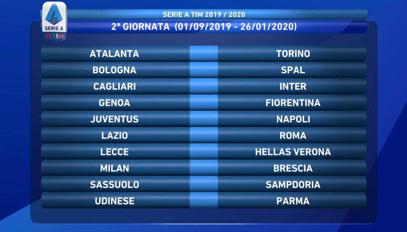 Calendario Esordienti 2020.Il Calendario Della Serie A La Juve Parte A Parma Poi