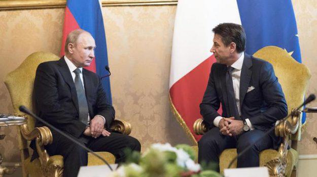 colloquio Italia Russia, sanzioni, Giuseppe Conte, Vladimir Putin, Sicilia, Politica