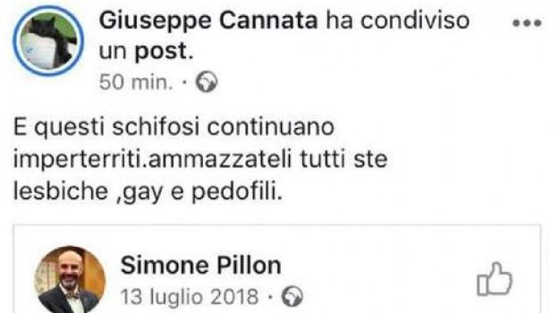gay, Giuseppe Cannata, Sicilia, Cronaca