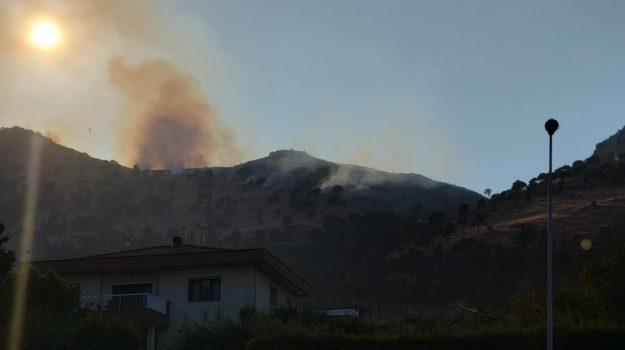 bellolampo, incendio, via poggio del pineto, Palermo, Cronaca