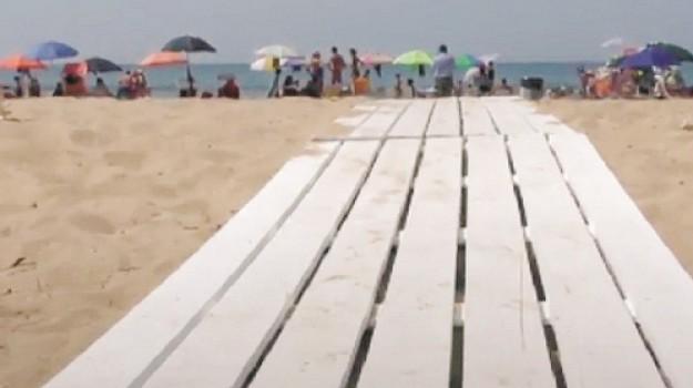 disabili, San Leone, spiaggia, Agrigento, Cronaca