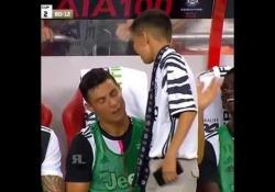 Ronaldo e il piccolo «invasore»: l'amicizia nasce in panchina Durante l'ultima amichevole della Juve contro il Tottenham, un giovanissimo tifoso è riuscito ad arrivare fino alla panchina dei bianconeri - Dalla Rete