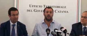 """Salvini al Cara di Mineo: """"Il centro chiude, è il giorno della legalità"""""""