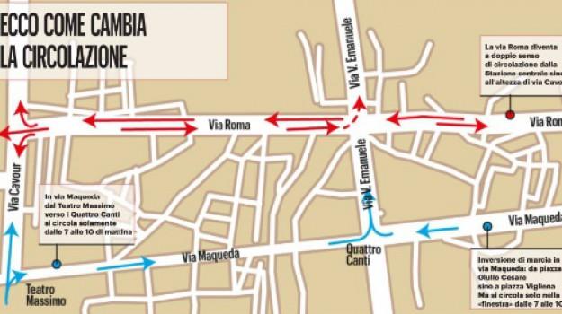 traffico palermo, via roma, Palermo, Cronaca