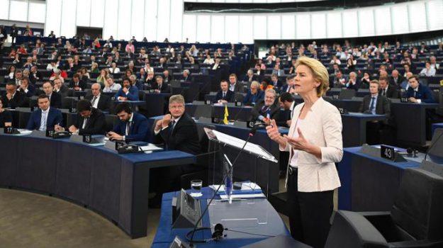 commissione europea, elezione von der leyen, Strasburgo, Ursula von der leyen, Sicilia, Mondo