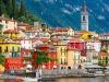 Le case colorate di Varenna, affacciate sul lago di Como
