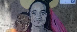 Migranti, danneggiato il graffito raffigurante Carola a Taormina