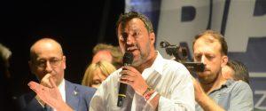 Il comizio del vicepresidente del Consiglio e ministro dell'Interno Matteo Salvini a Pescara