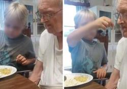 Il bimbo che imbocca il bisnonno malato: il video è toccante Il filmato dagli Usa è diventato virale sui social - CorriereTV