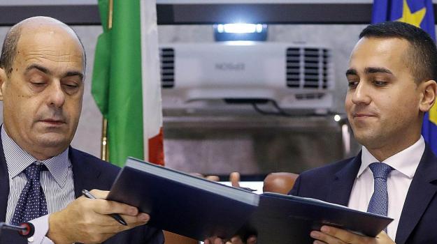 governo, Luigi Di Maio, Nicola Zingaretti, Sicilia, Politica